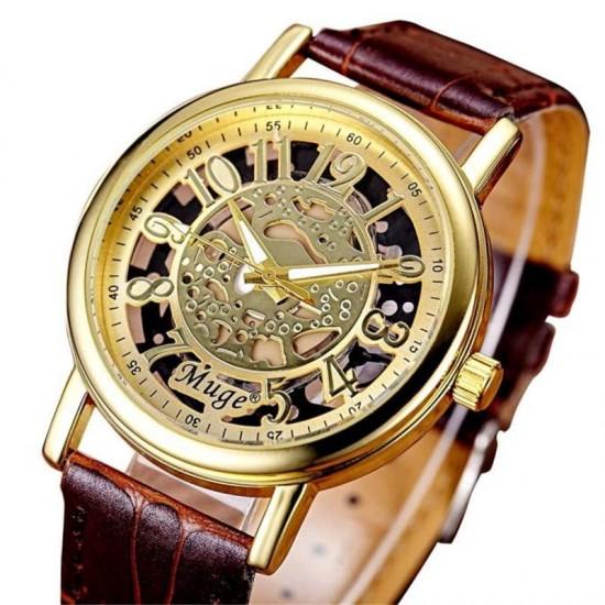 снимка на мъжки часовник тип скелетон Muge