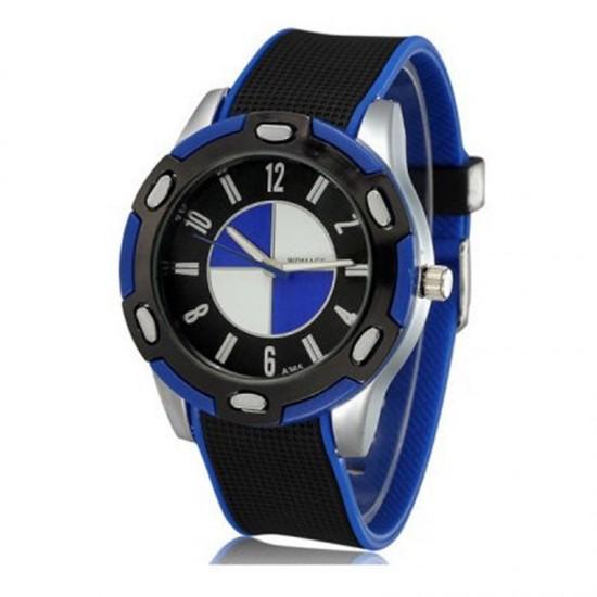 снимка на мъжки силиконов ръчен часовник бмв
